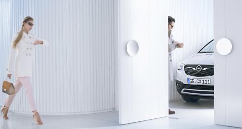 L'Opel Crossland X montre une partie de son museau