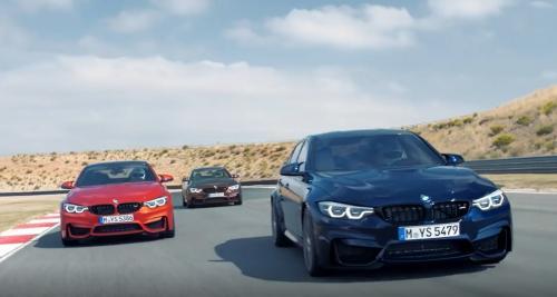 Toute la famille BMW M4 / M3 s'affronte sur la piste