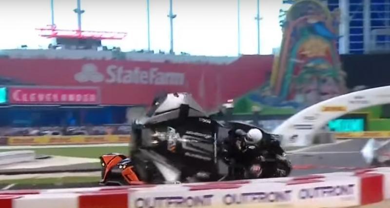 Crash spectaculaire de Wehrlein à la Race of Champions