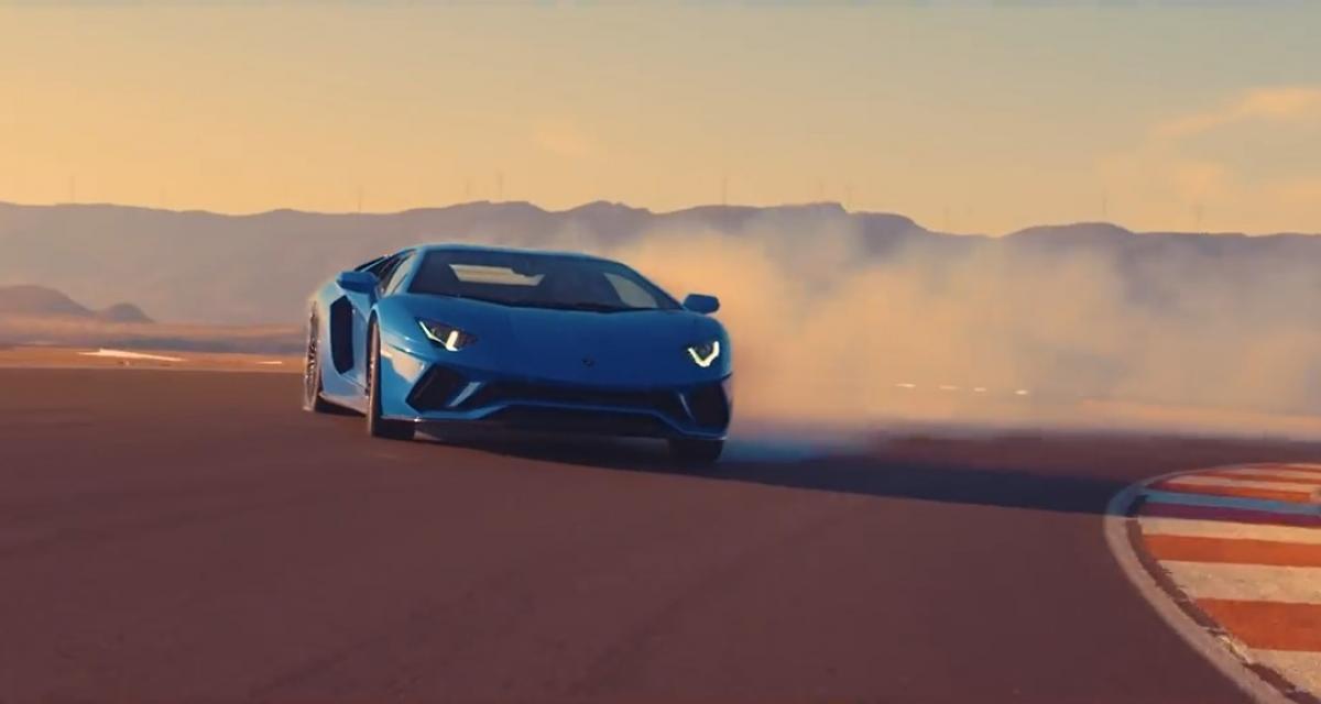 La Lamborghini Aventador S revisite Puissance 4 pour vanter ses technologies