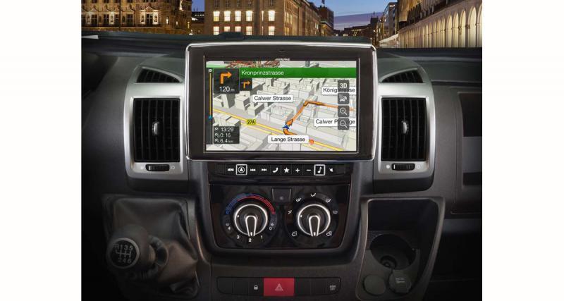 Alpine présente un système multimédia GPS premium pour le Fiat Ducato