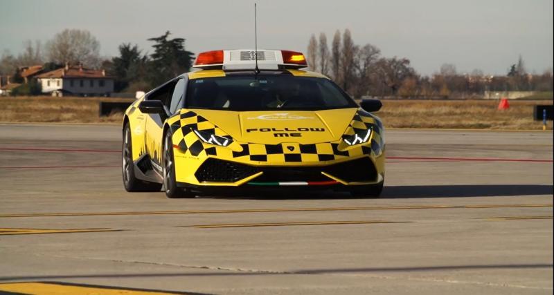 La Lamborghini Huracan vient en aide aux avions à Bologne