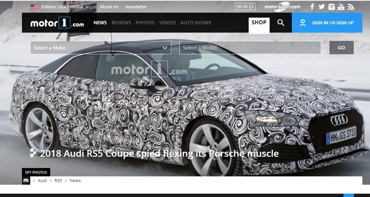 La future Audi RS5 part affronter le froid et la neige