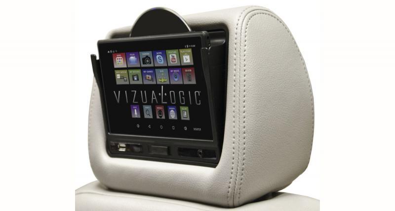 Vizualogic présente un appui-tête vidéo avec tablette Android amovible