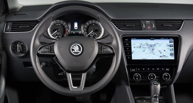 La nouvelle Skoda Octavia bénéficie d'un nouveau système multimédia avec grand écran tactile