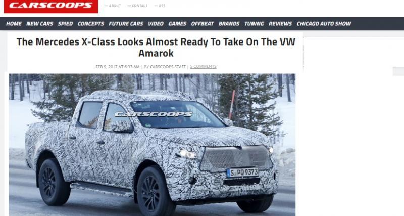 Le Mercedes Classe X de série s'est fait surprendre