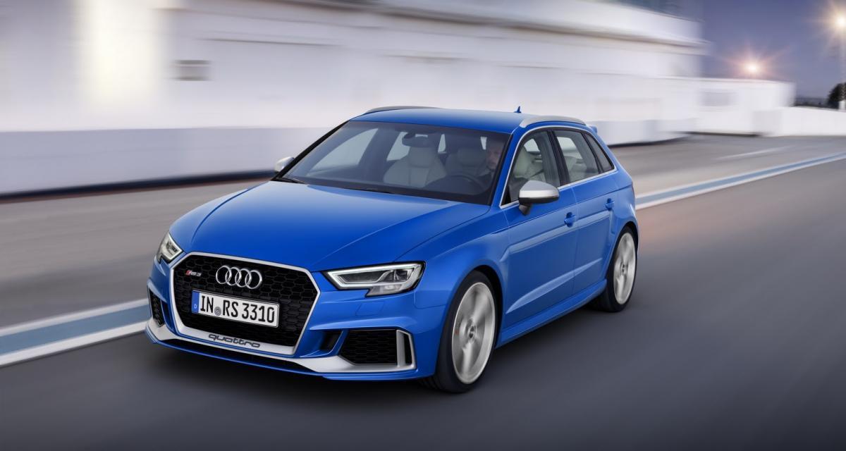 Audi RS3 Sportback restylée: 400 ch grâce au cœur du TT RS