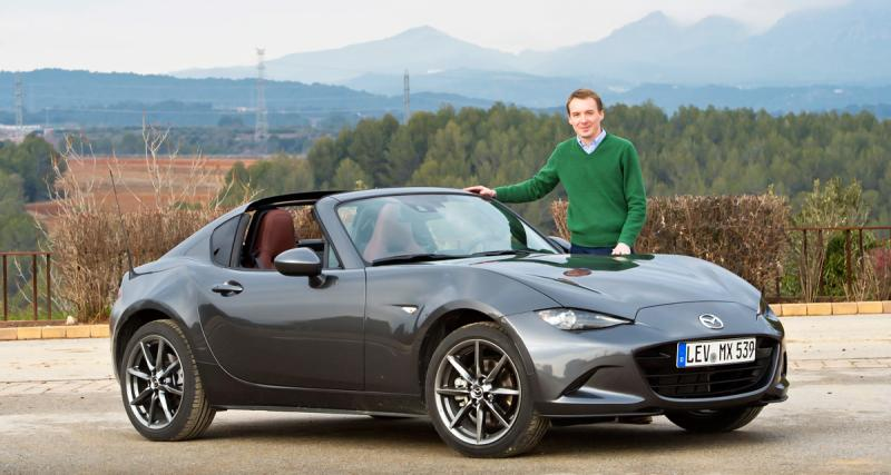 mazda mx 5 rf notre essai de la mx5 coup cabriolet targa toit rigide. Black Bedroom Furniture Sets. Home Design Ideas