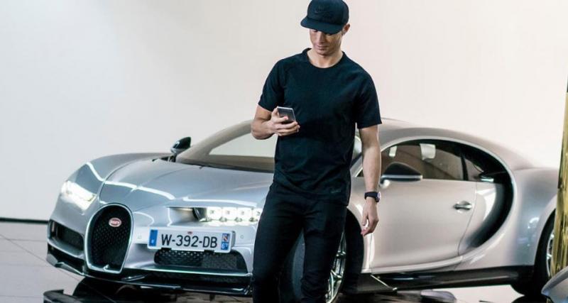 Cristiano Ronaldo devient pilote d'essai pour la Bugatti Chiron