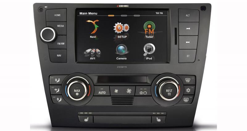 Zenec propose de nouveau un autoradio GPS « plug and play » pour les BMW Serie 3 E90