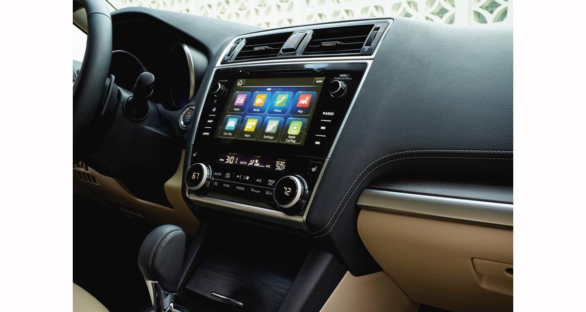 La nouvelle Subaru Legacy sera équipée d'un autoradio CarPlay et Android Auto