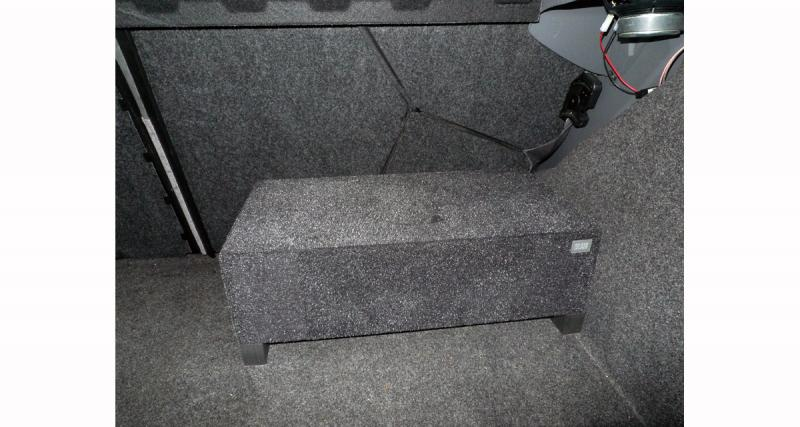 Le Blam Audio CR20 prend peu de place dans un coffre