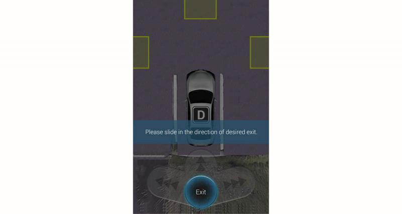 Garer sa voiture à l'aide du Smartphone en toute sécurité