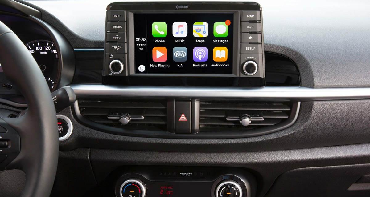 La nouvelle Kia Picanto adopte un autoradio multimédia tourné vers les Smartphones