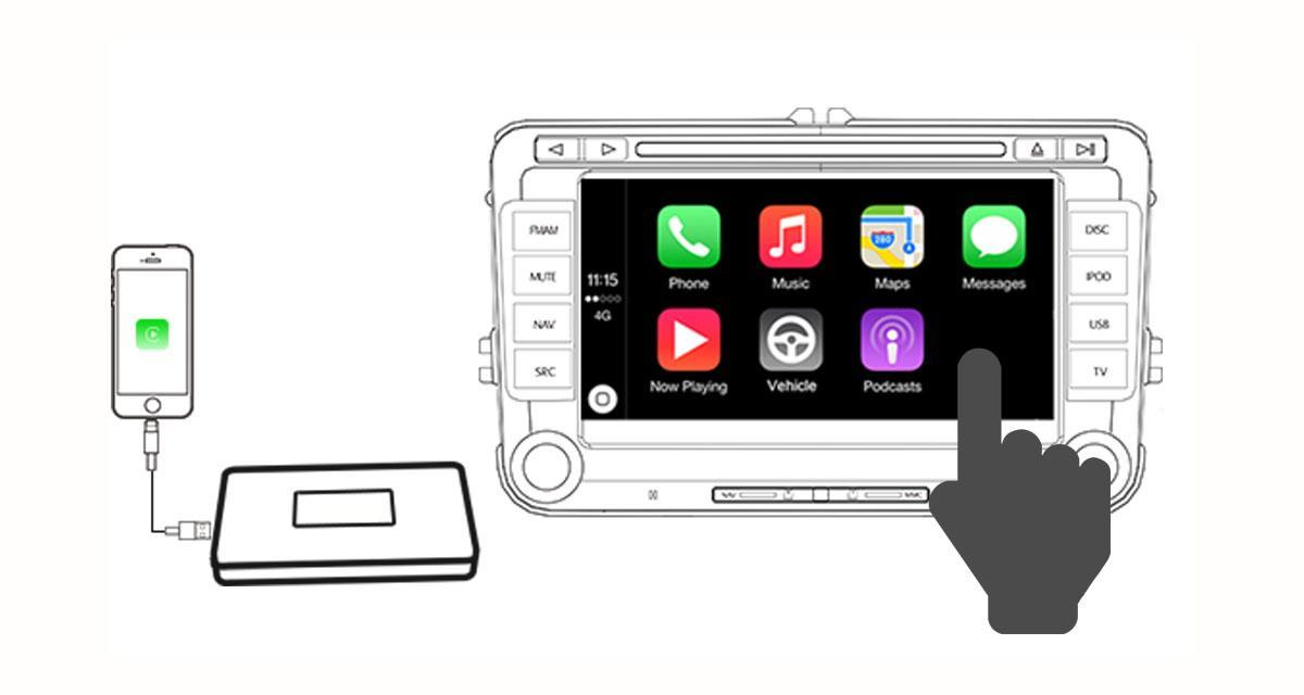 Replica dévoile un module pour rajouter le contrôle iPhone sur ses autoradios GPS