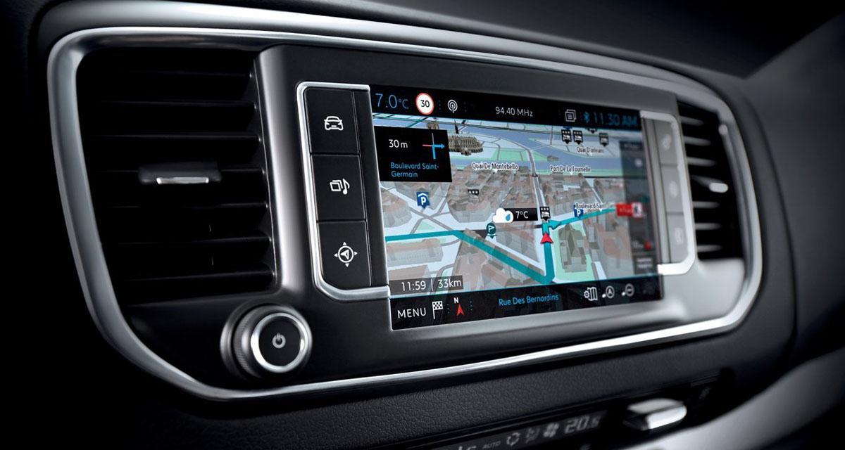 Le nouveau Peugeot Traveller peut recevoir un équipement high-tech remarquable