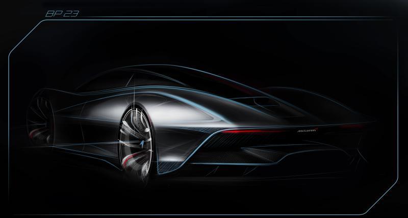 McLaren BP23 : l'hyper-GT trois places montre sa poupe