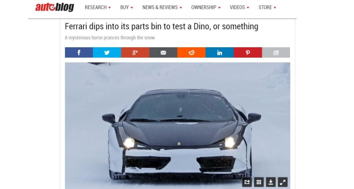 Un mystérieux prototype Ferrari se balade en Suède