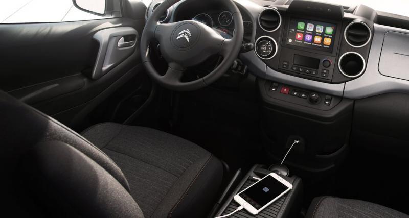 Le nouveau E Berlingo de Citroën sera équipé d'un autoradio avec connectivité Smartphone