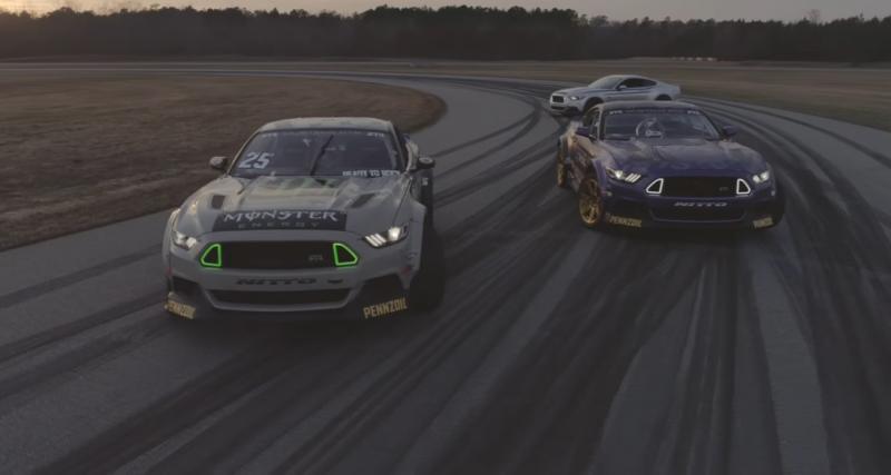 Près de 2 000 ch cumulés pour ces deux Ford Mustang de drift