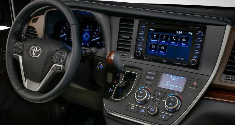 Le nouveau Sienna de Toyota sera équipé d'un système hi-fi JBL