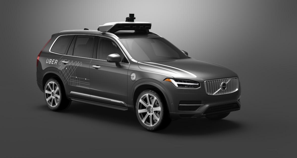 Un Volvo XC90 autonome d'Uber impliqué dans un crash
