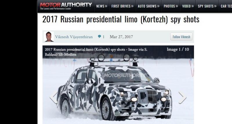 Voici la nouvelle limousine de Vladimir Poutine