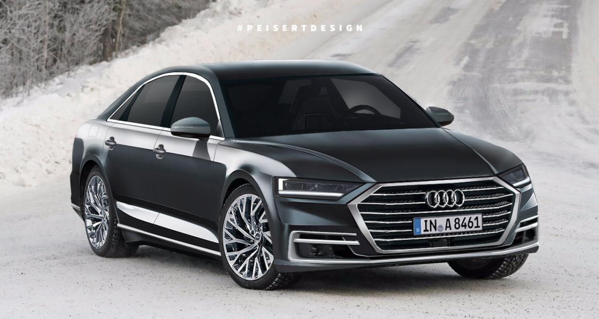 Future Audi A8 : un rendu très réaliste basé sur les photos espions