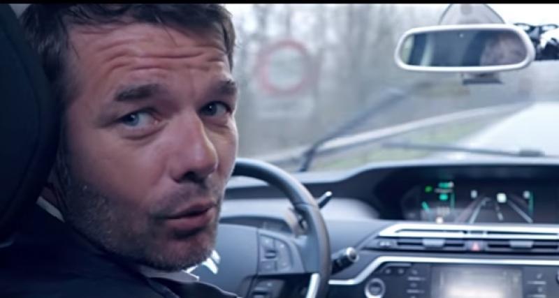 Sébastien Loeb se fait conduire par la voiture autonome de PSA