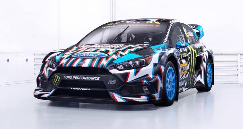 Une nouvelle livrée qui donne mal aux yeux pour la Ford Focus RS RX de Ken Block