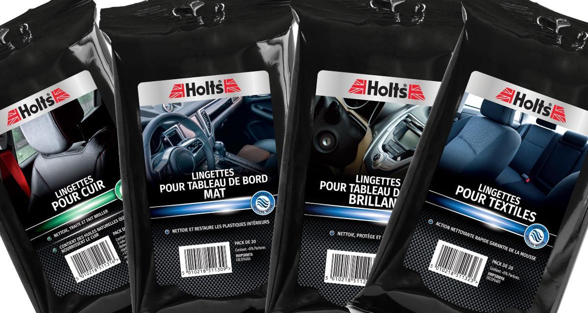 Holts lance une nouvelle gamme de lingettes nettoyantes