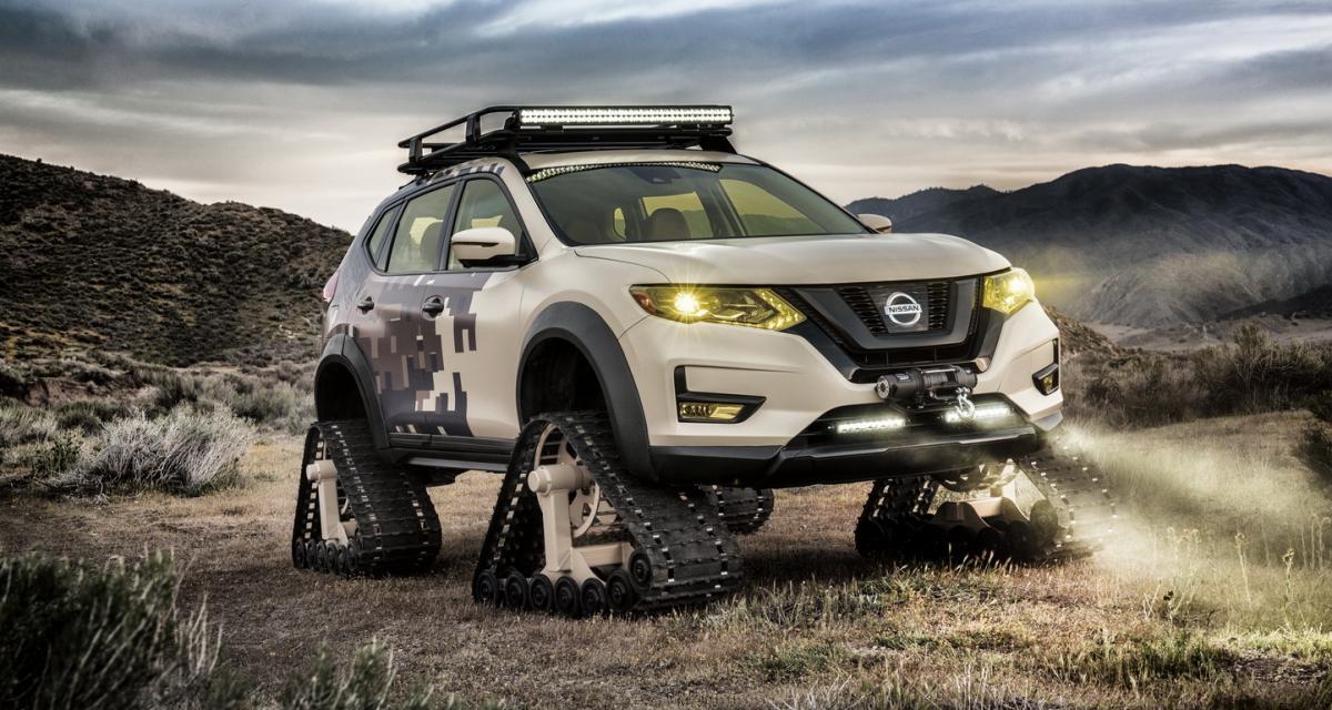 Nissan Rogue Trail Warrior : le X-Trail renfile des chenilles
