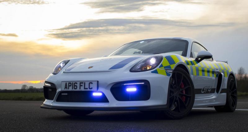 La police britannique accueille une Porsche Cayman GT4 dans ses rangs