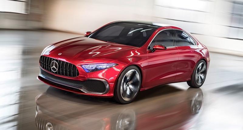 Mercedes Concept A Sedan : la future CLA à peine dissimulée