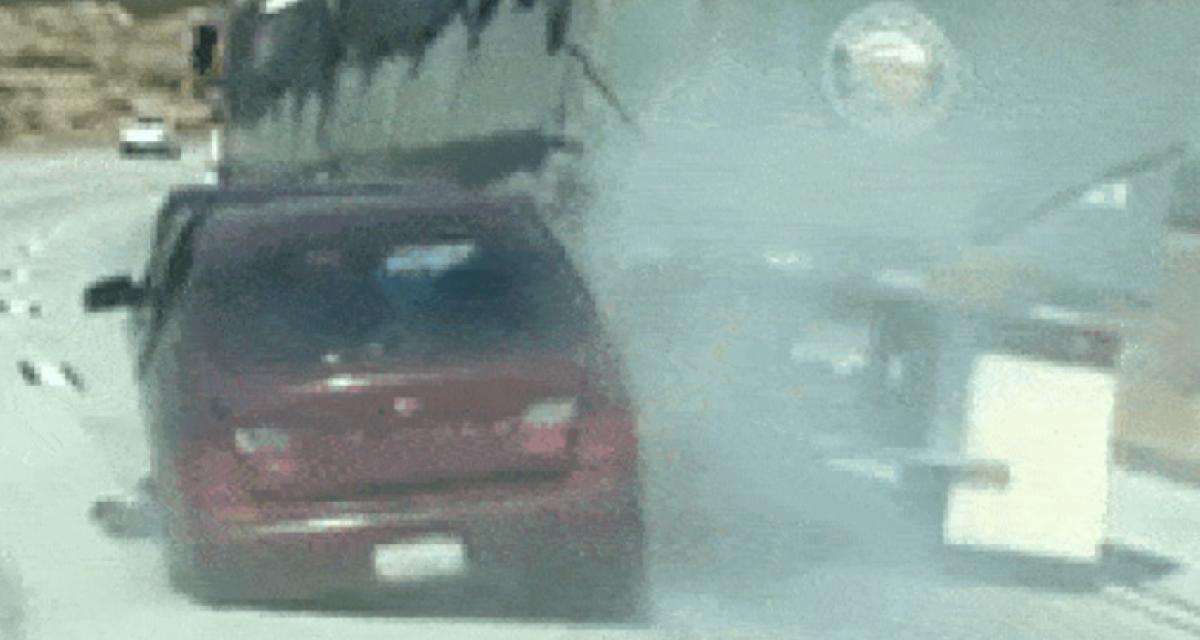 Il traîne une voiture accidentée sur 6 km sans s'en rendre compte