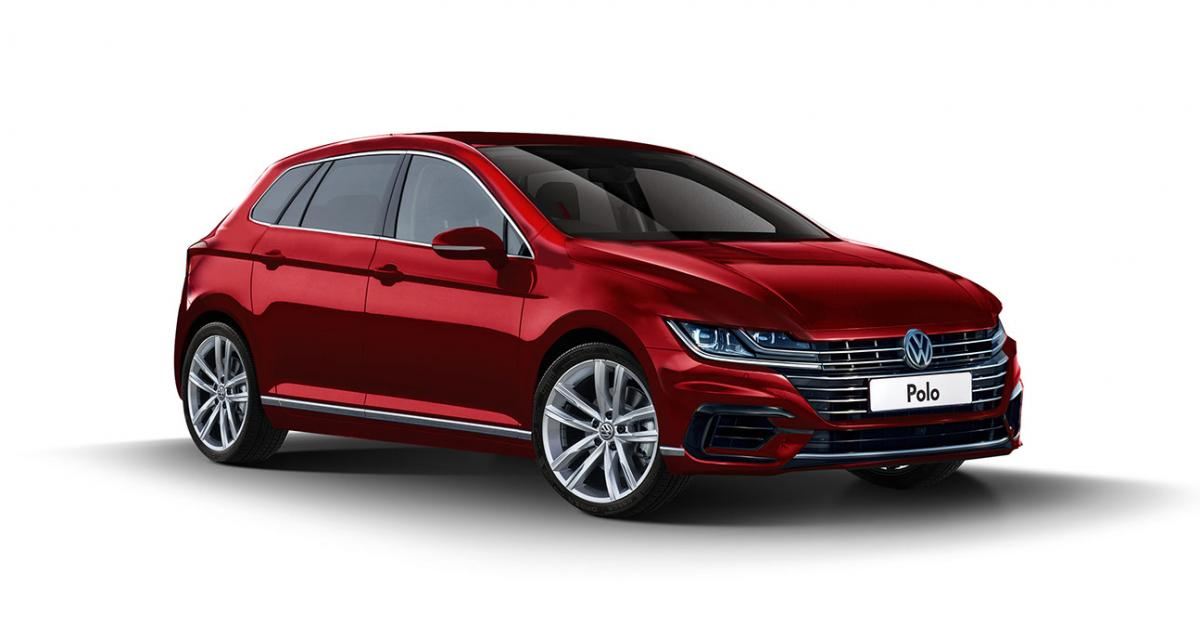 Et si la future Volkswagen Polo reprenait la face avant de l'Arteon ?