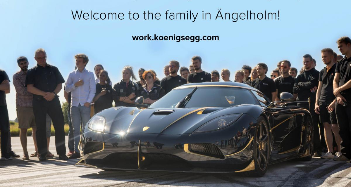 Envie de travailler pour Koenigsegg ? 40 postes viennent de s'ouvrir chez le suédois