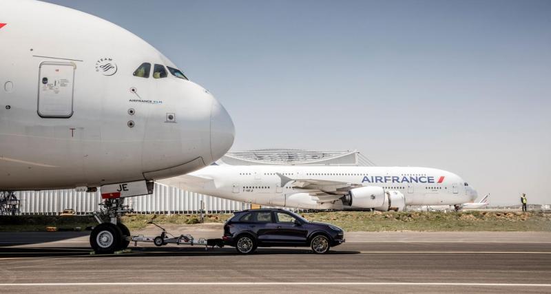 Le Porsche Cayenne peut tracter un Airbus A380