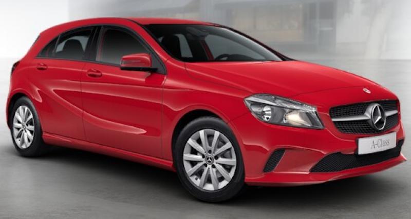 Mercedes Classe A : à partir de 299 euros par mois sans apport