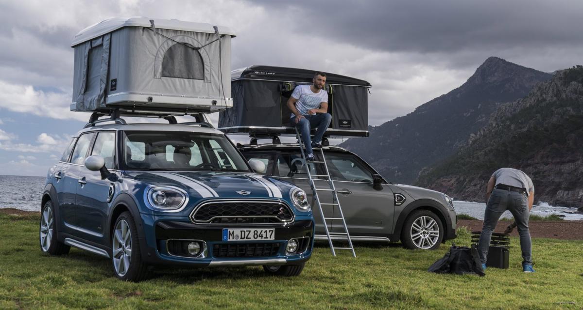 airtop une tente de toit sp ciale pour le mini countryman. Black Bedroom Furniture Sets. Home Design Ideas