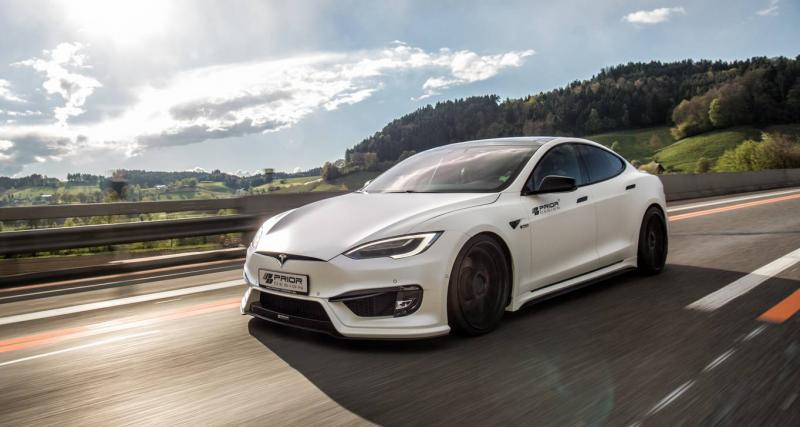 Tesla Model S : un kit carrosserie signé Prior Design