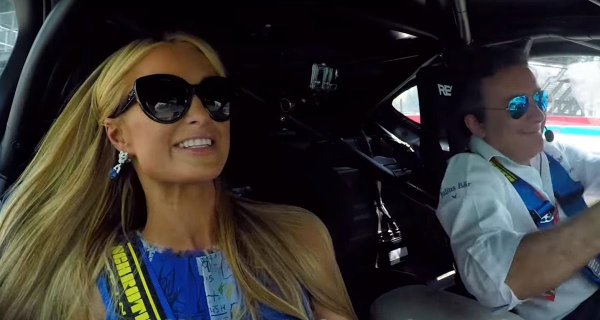 Paris Hilton s'est fait plaisir avec la BMW i8 Safety Car de Formule E