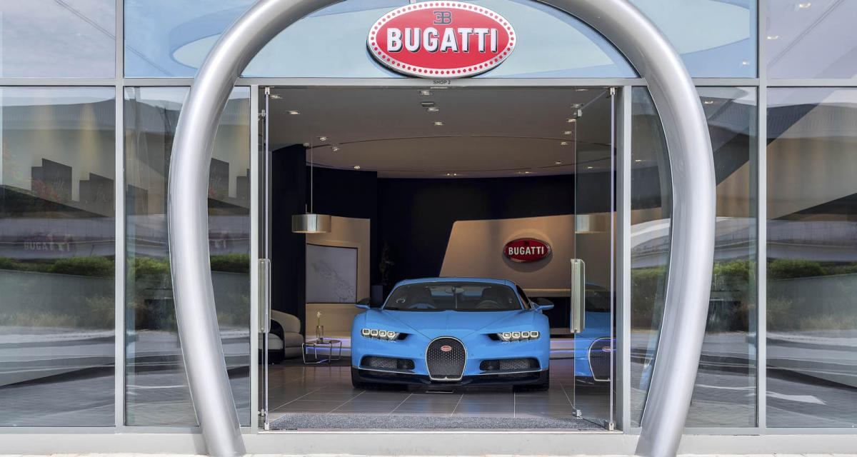Bugatti ouvre son plus grand showroom à Dubaï