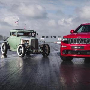 Jeep Grand Cherokee SRT vs. Hot Rod : lequel des deux monstres est plus rapide ?