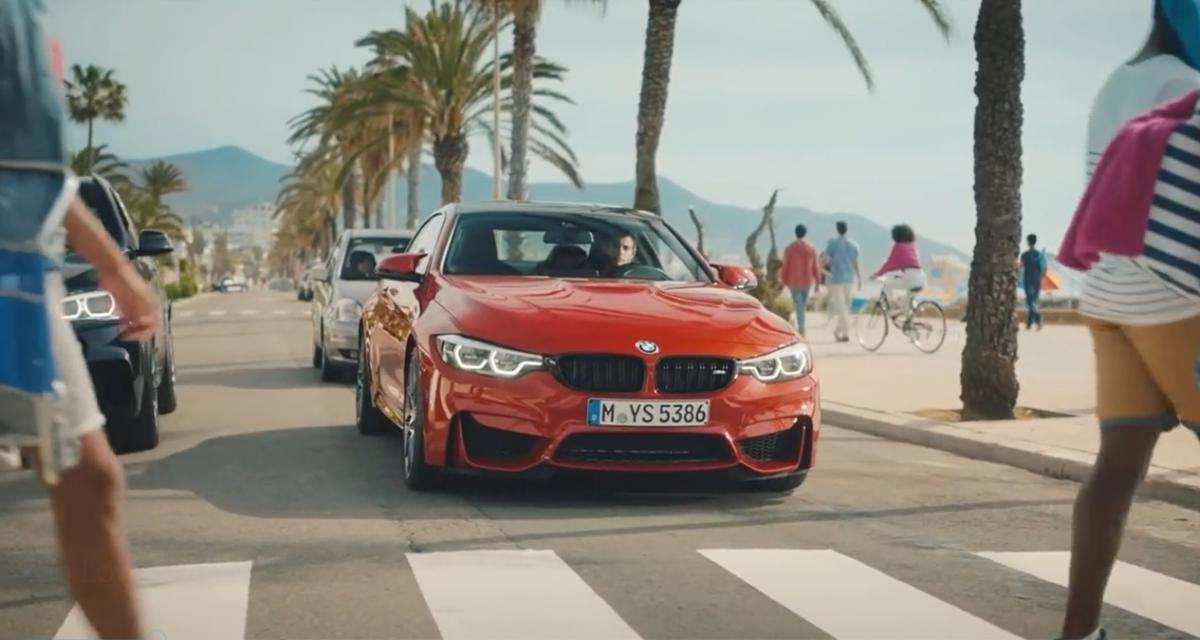 De l'humour sous la ceinture pour une pub de BMW M
