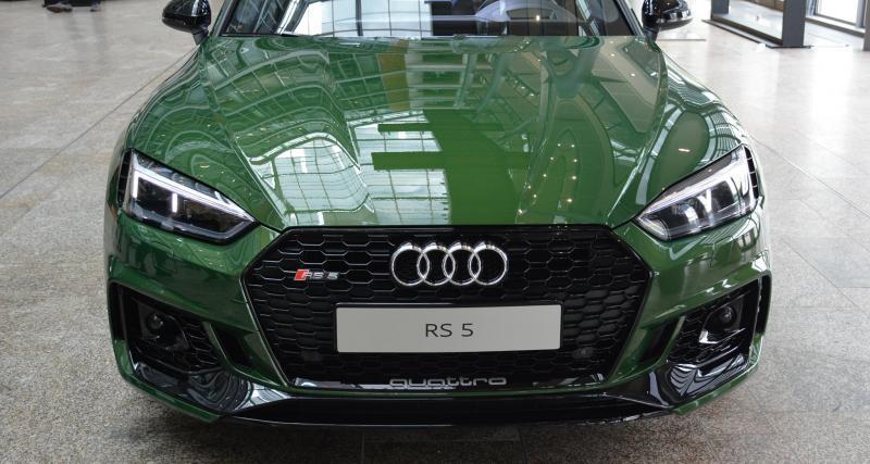 La nouvelle Audi RS5 ose le vert