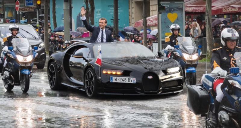 """Emmanuel Macron """"troque"""" son DS 7 Crossback pour une Bugatti Chiron"""