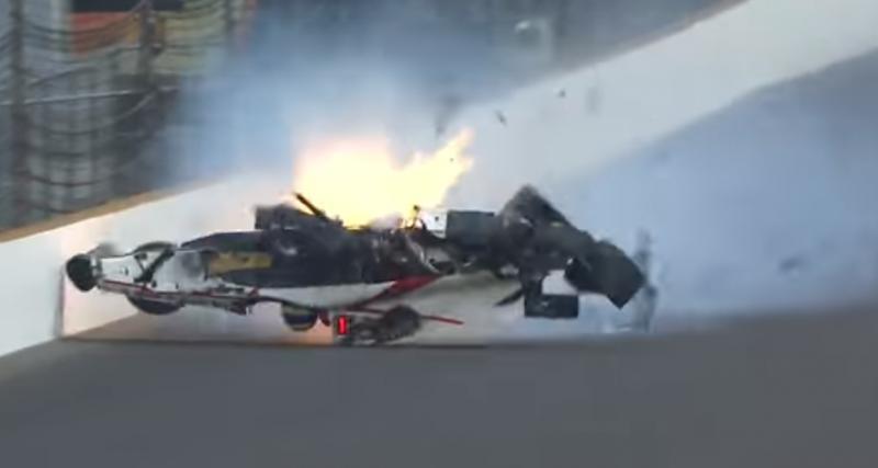 Indy 500 : le Français Sébastien Bourdais victime d'un terrible crash