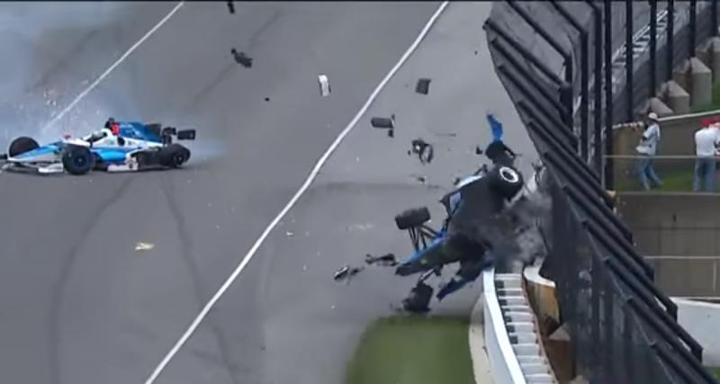 Indy 500 : Scott Dixon sort indemne de son effroyable crash