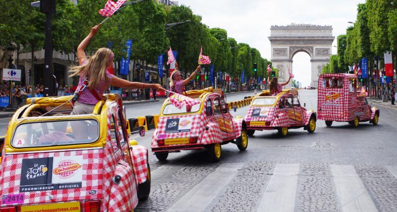 La caravane des 2CV Cochonou se fait toute belle pour le Tour de France